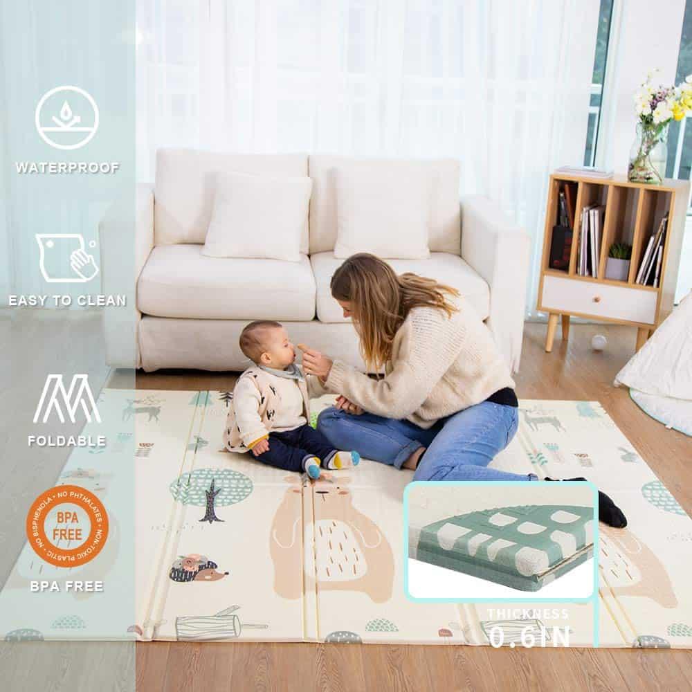 Baby mat Folding Extra Large Thick Foam crawling play mats Reversible
