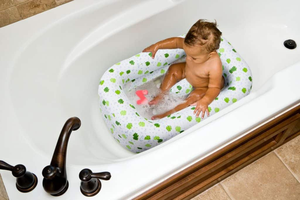 Mommy's Helper Inflatable Bath Tub Froggie Collection