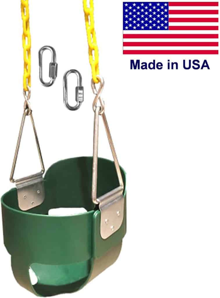 SAFARI SWINGS High Back Full Bucket Kids Swing Seat
