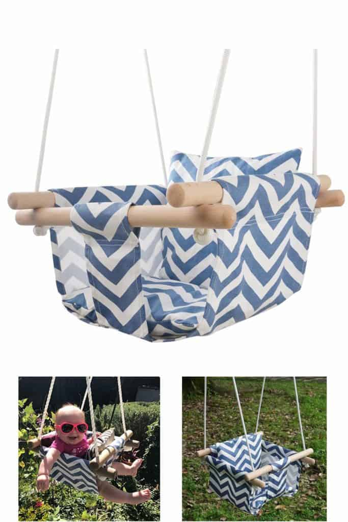 Secure Canvas Hanging Swing Seat Indoor Outdoor Hammock Toy for Toddler