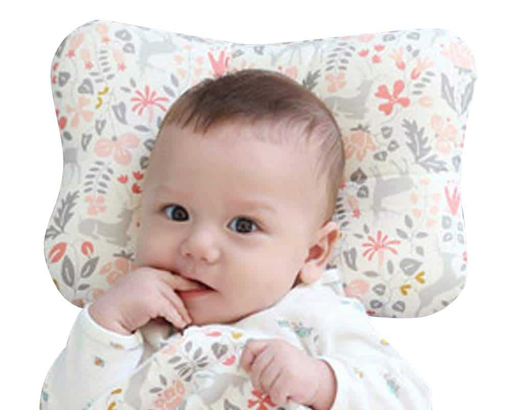 WelLifes Baby Pillow for Newborn Breathable 3D Air Mesh Organic Cotton