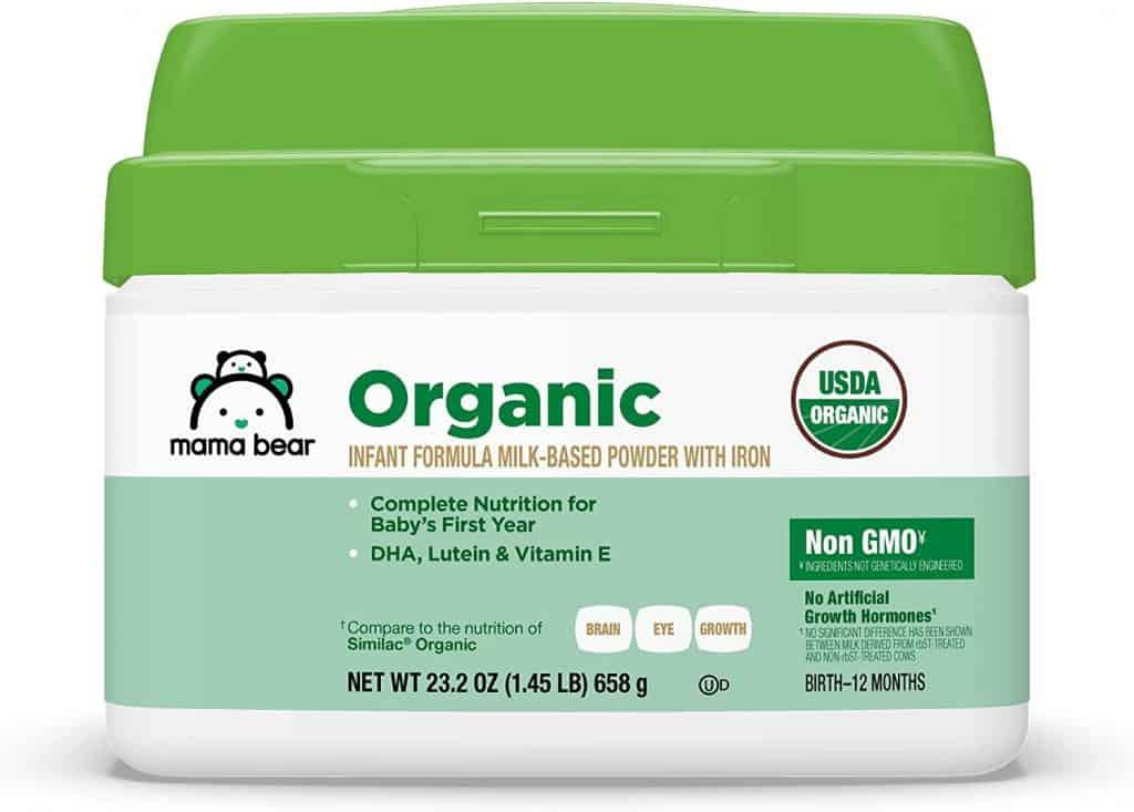 Amazon Mama Bear Organic Infant Formula - Best Organic Baby Formula