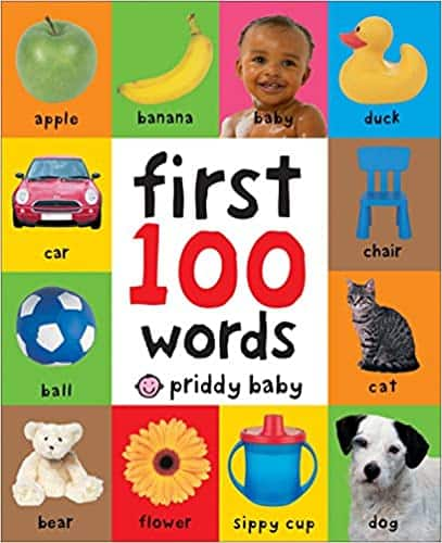 Board Book, 100 First Words,
