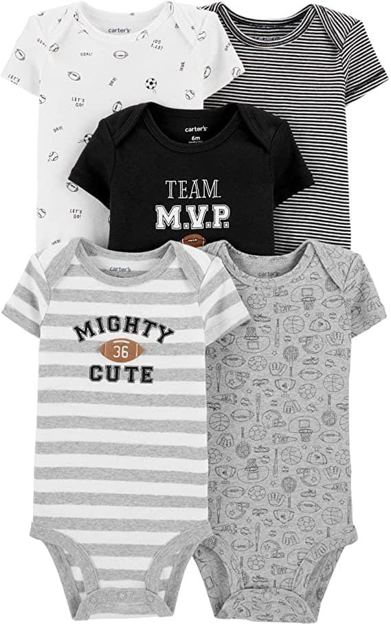 Carters Short Sleeve Bodysuit 5 Pack Parenthoodbliss