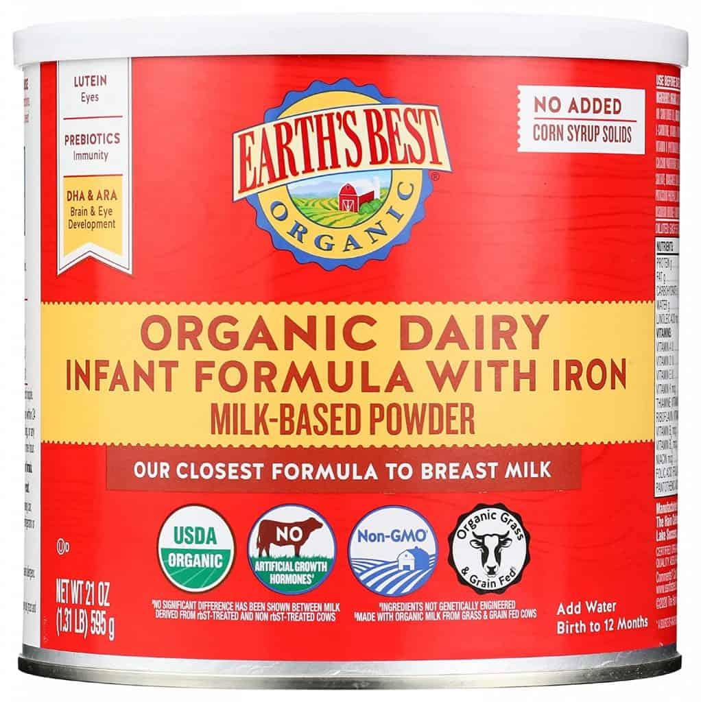 Earth's Best Organic Infant Formula - Best Organic Baby Formula