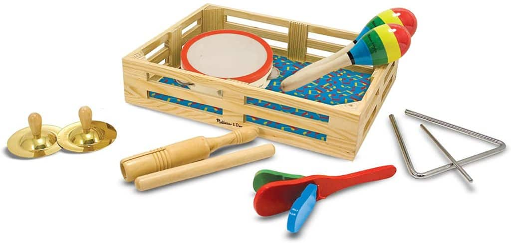 Musical Instruments, Melissa & Doug Band-in-a-Box Clap! Clang! Tap! Musical Instruments