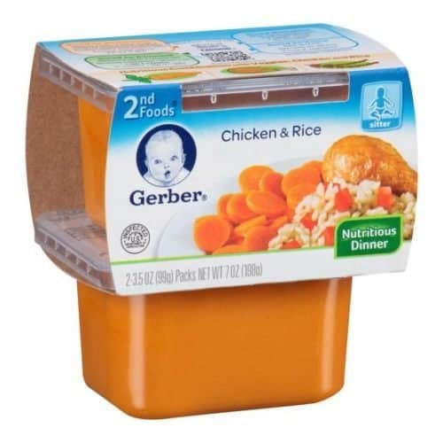 Gerber 2nd Chicken & Rice Foods