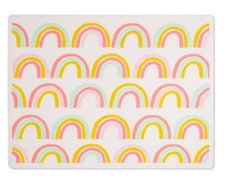 Cloud island rainbow silicone placemat