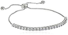 Elegant Metallic Finish And Stones Bracelet