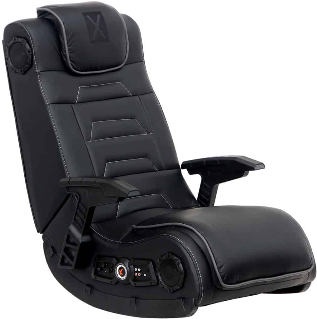 Foldable vibrating floor gaming chair