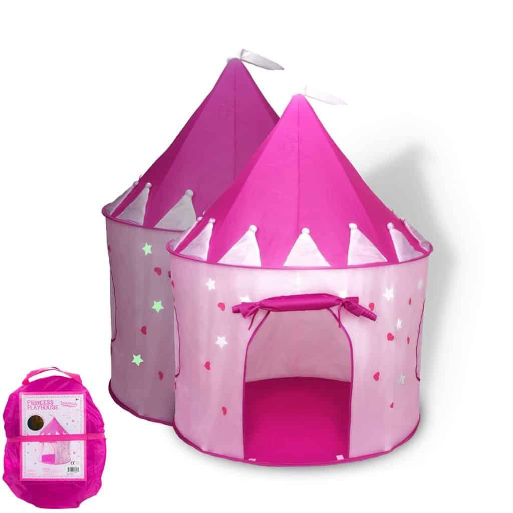 Fox Print Princess Castle Play Tent w Glow in the Dark Stars