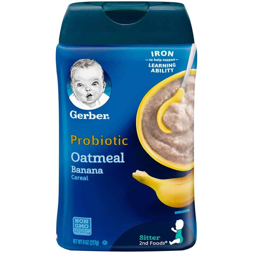Gerber Baby Cereal Probiotic Oatmeal & Banana Baby Cereal