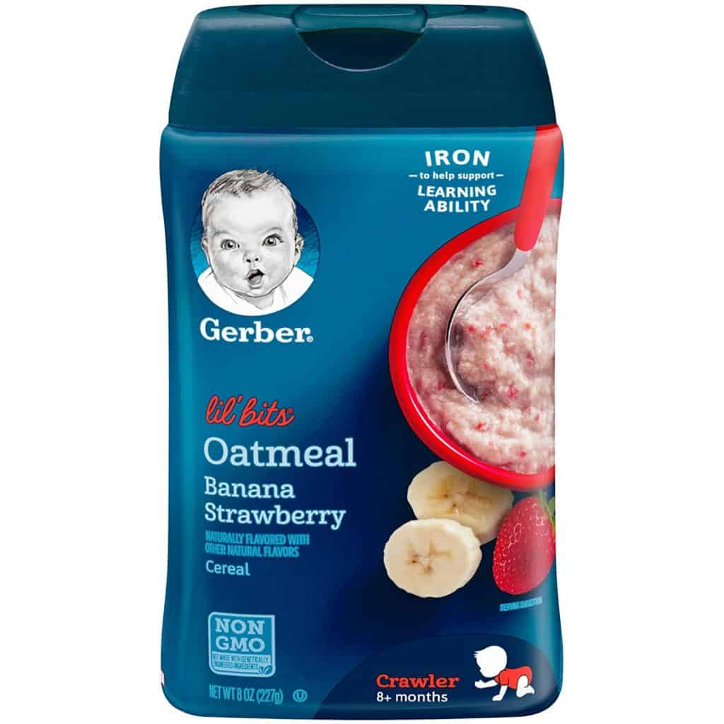 Gerber Lil' Bits Oatmeal Banana Strawberry Baby Cereal (6-Pack)