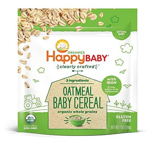 Happy Baby Organic Clearly Crafted Oatmeal Cereal