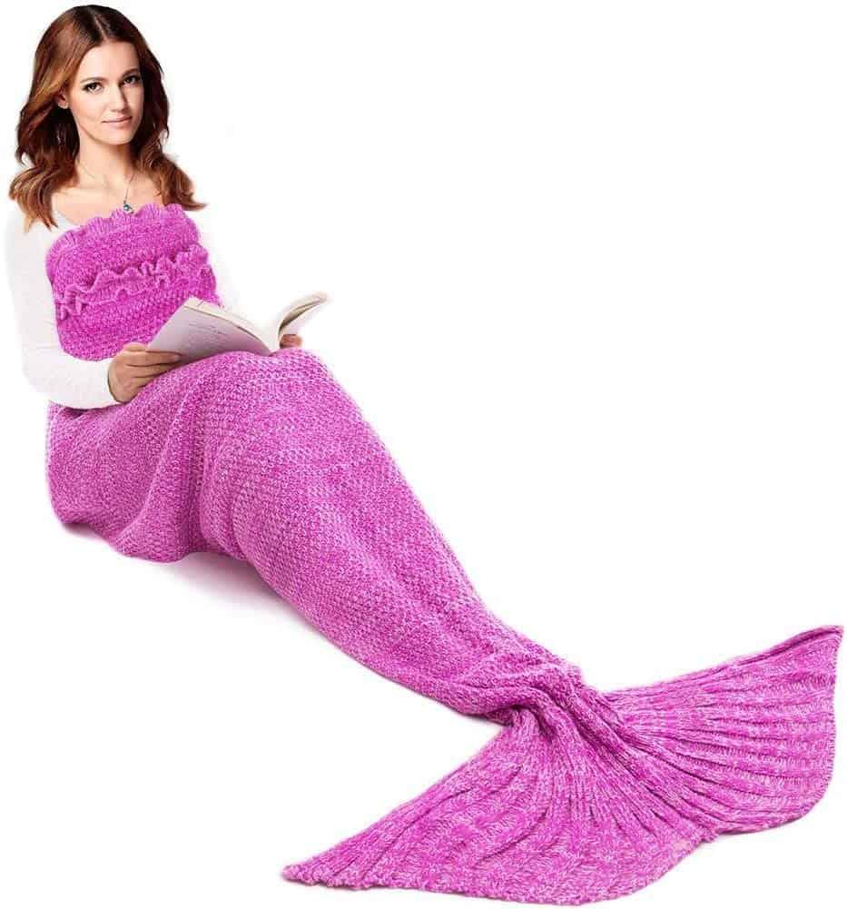 JR. White, mermaid tail blanket