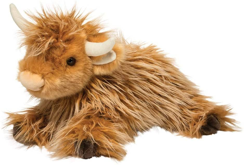 KCFT 23Cm Living Nature Highland Cow Soft Toy w Sound