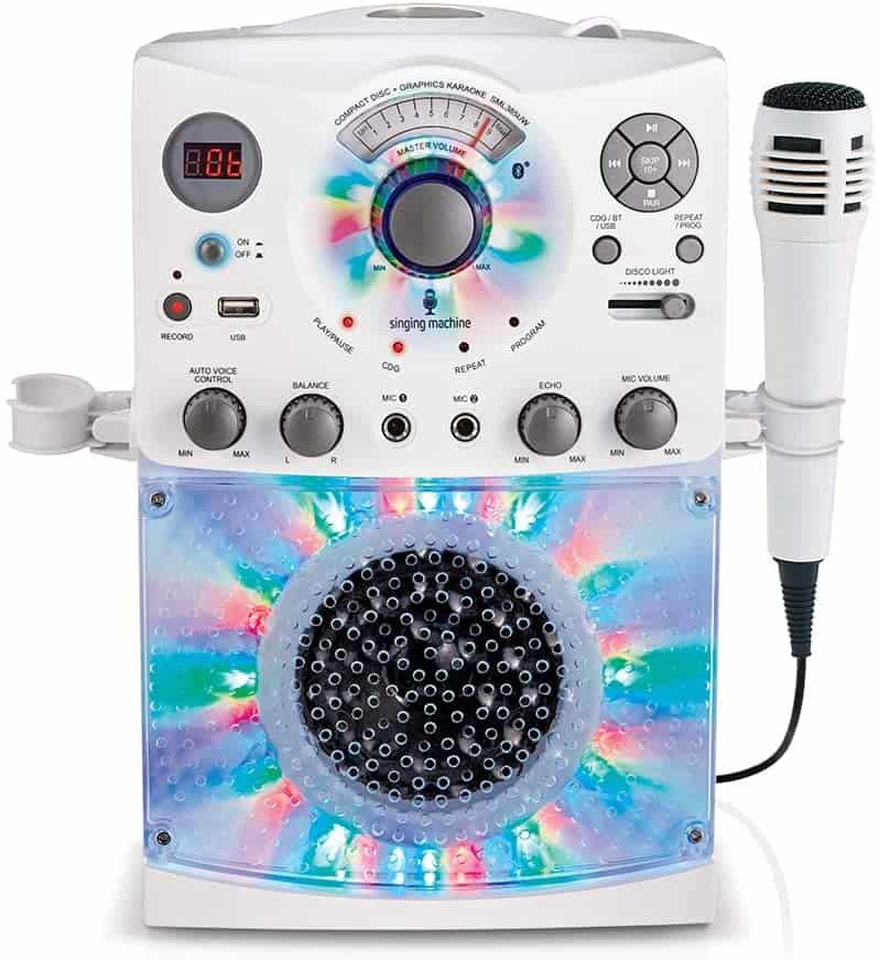 Karaoke System With LED Disco Lights