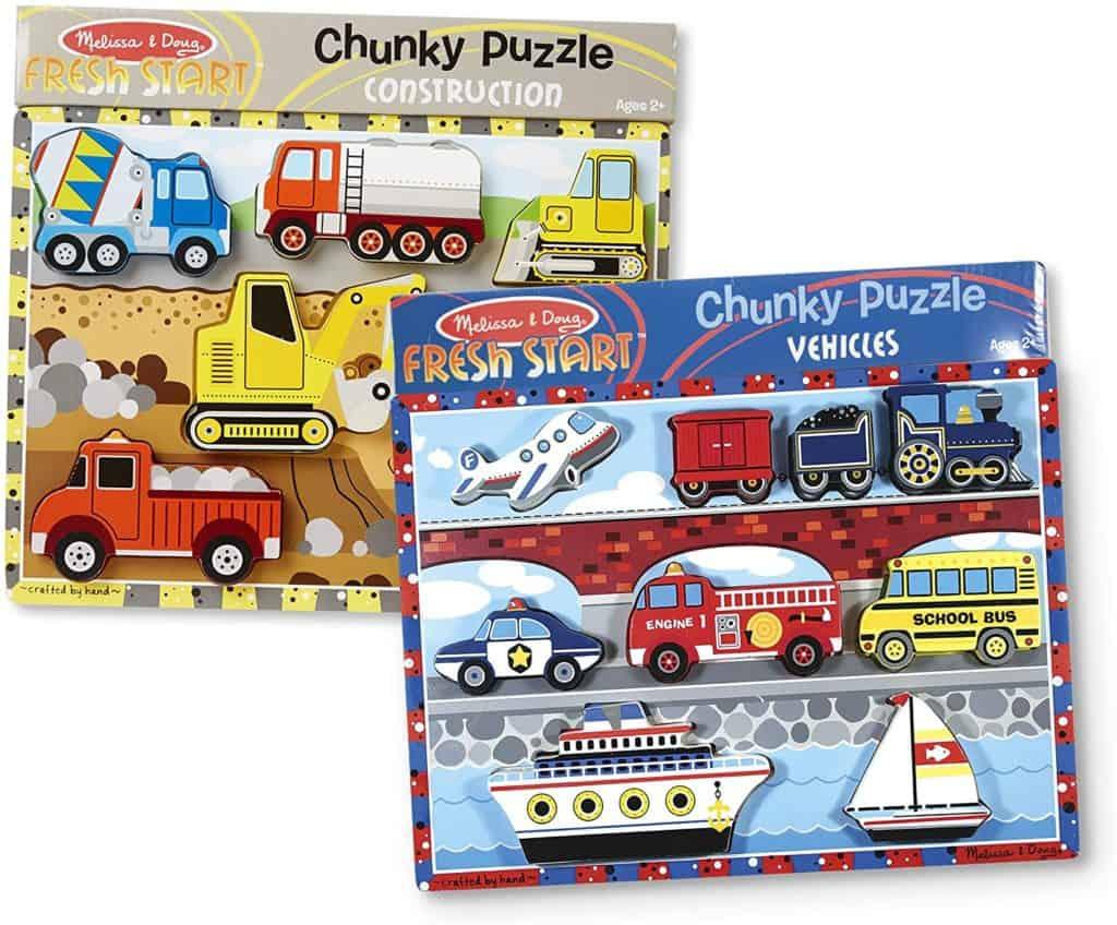 Melissa and Doug Chunky Puzzle Set