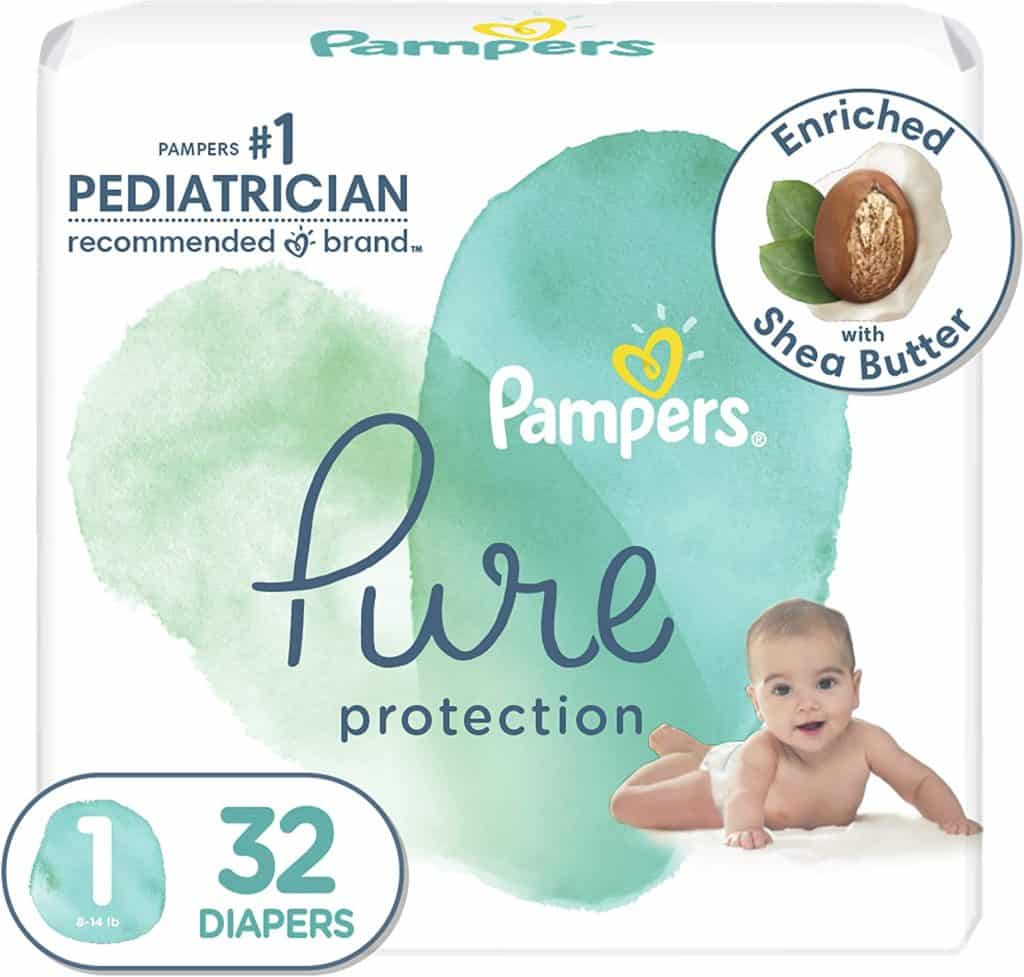 Pampers pure disposable diapers
