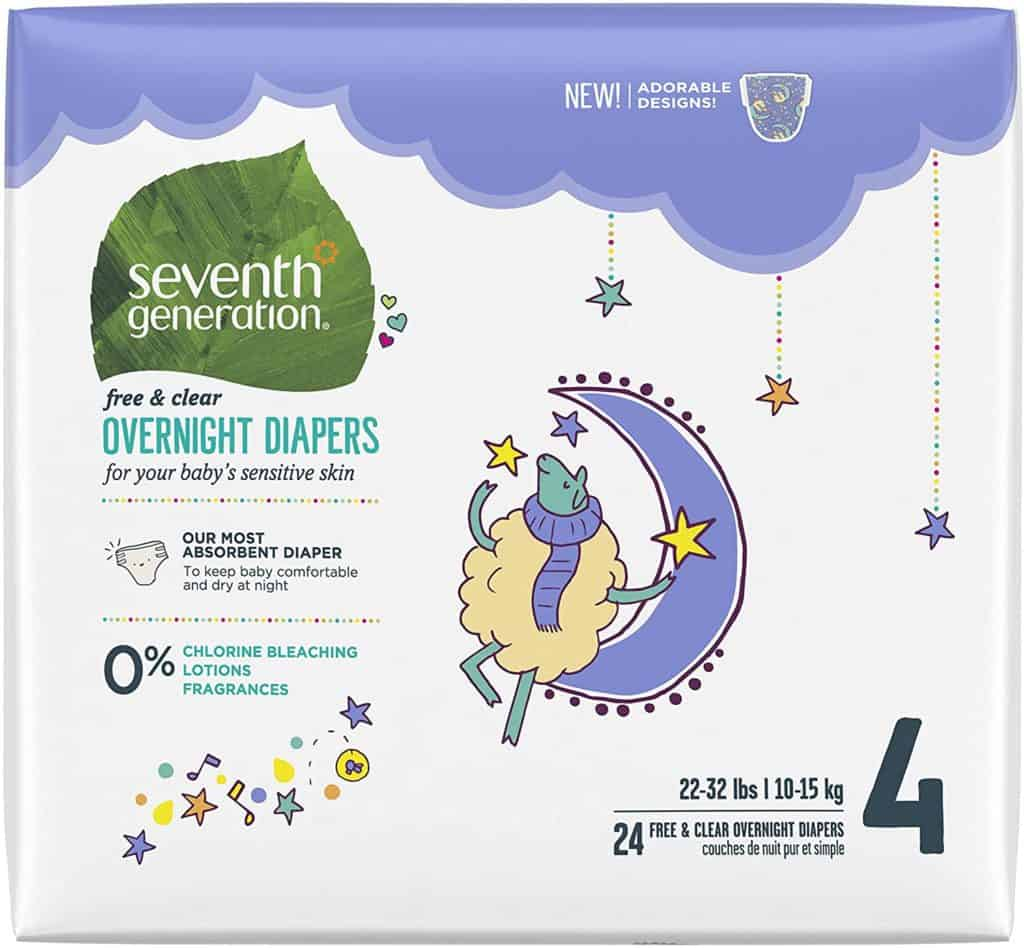 Seventh generation disposable overnight diapers Parenthoodbliss