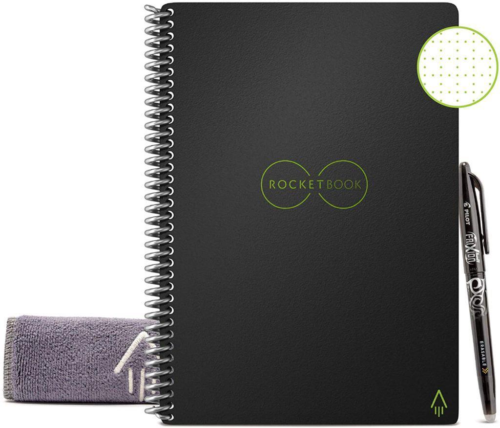 Smart reusable rocket-notebook