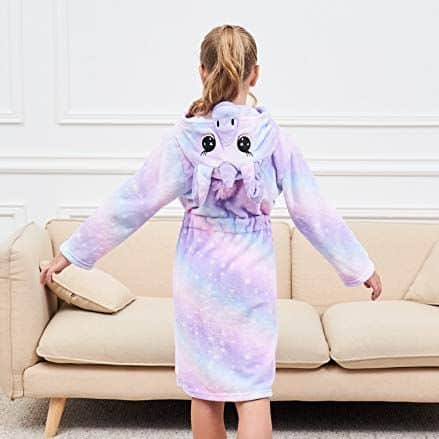 Soft Unicorn Hooded Bathrobe
