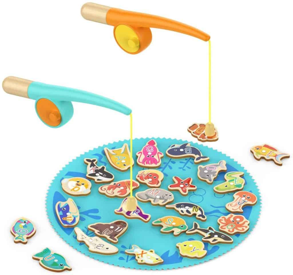 Top Bright Magnetic Wooden Fishing Game