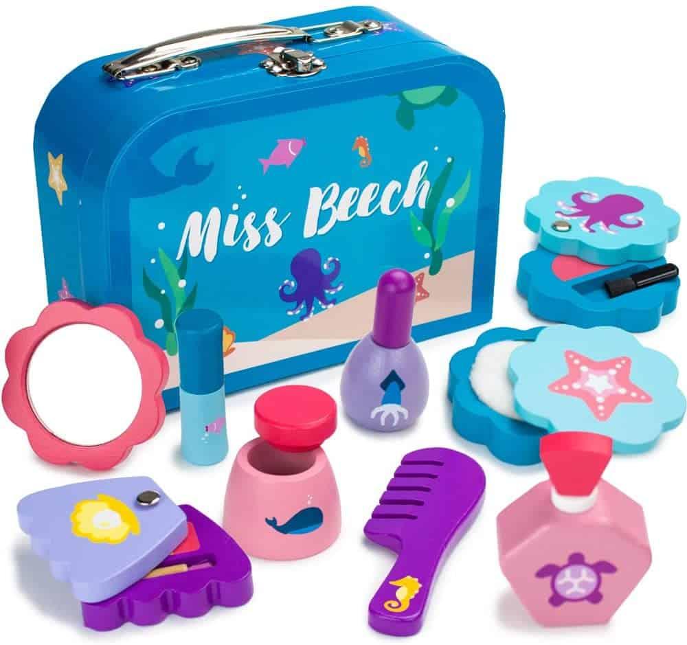 Wooden Wonders Miss Beech's Beauty Bag Wood Pretend Make-up Play Set
