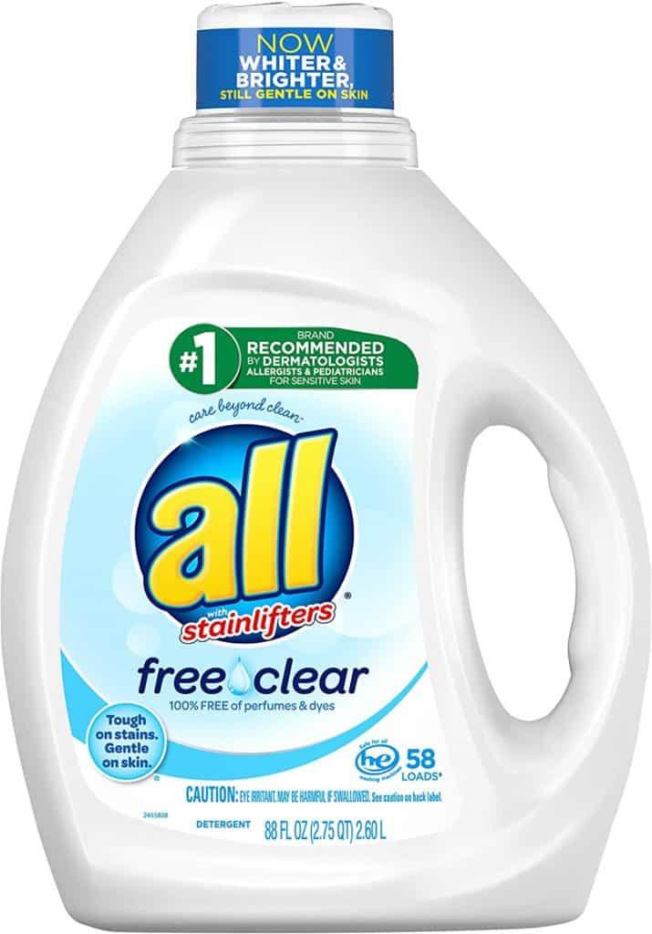 All Free Clear Liquid - Best baby detergent