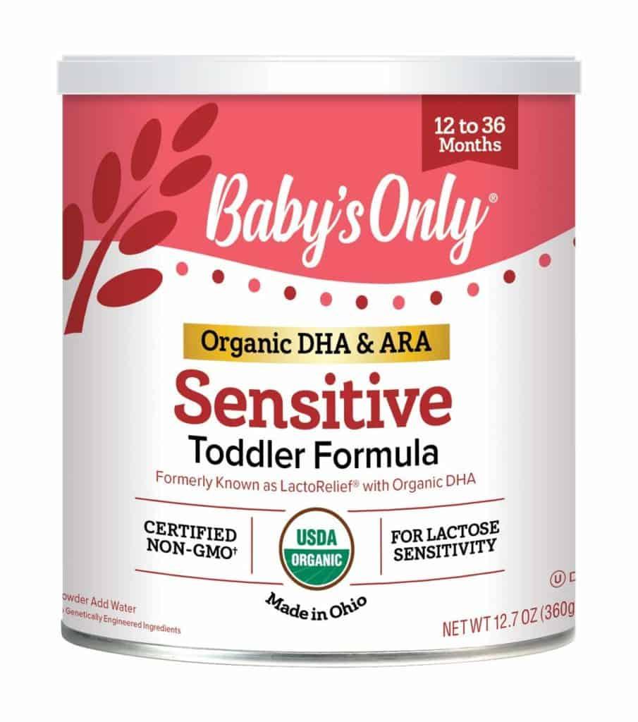 Baby's organic non-GMO toddler formula