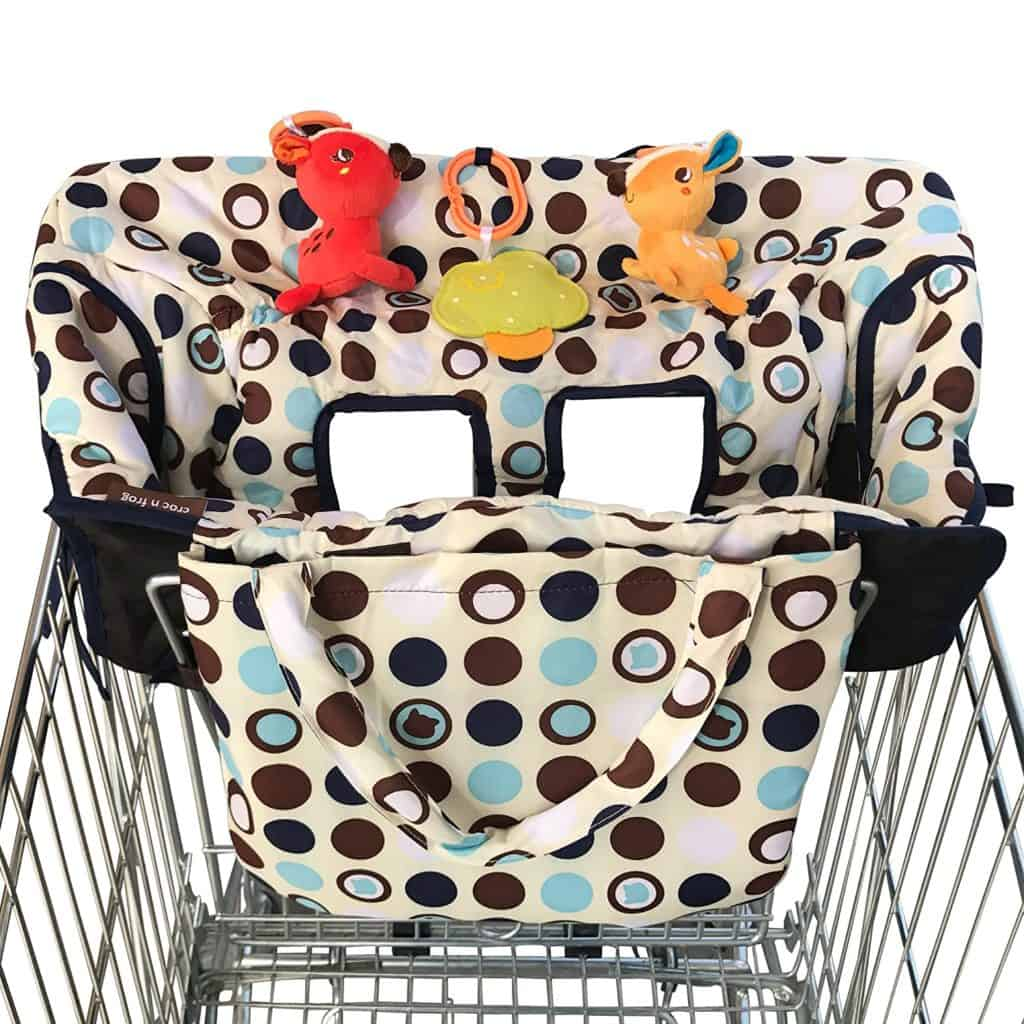 Croc n Frog 2-in-1 baby shopping cart cover
