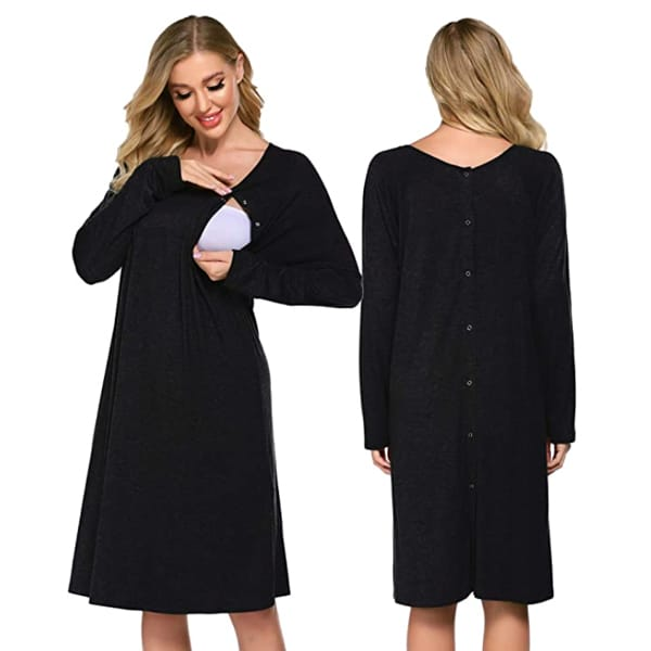 Ekouaer Nursing and Delivery Nightdress Labor And Delivery Gown