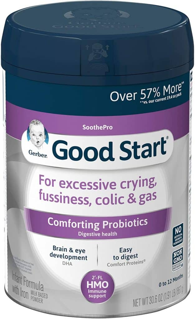 Gerber good start soothe infant formula