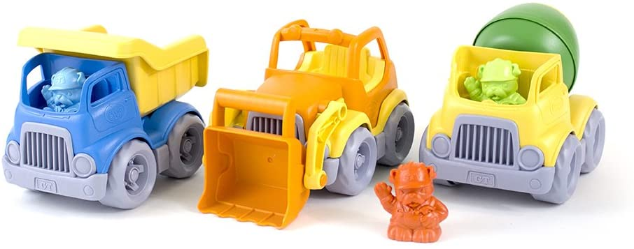 Green toys construction vehicle