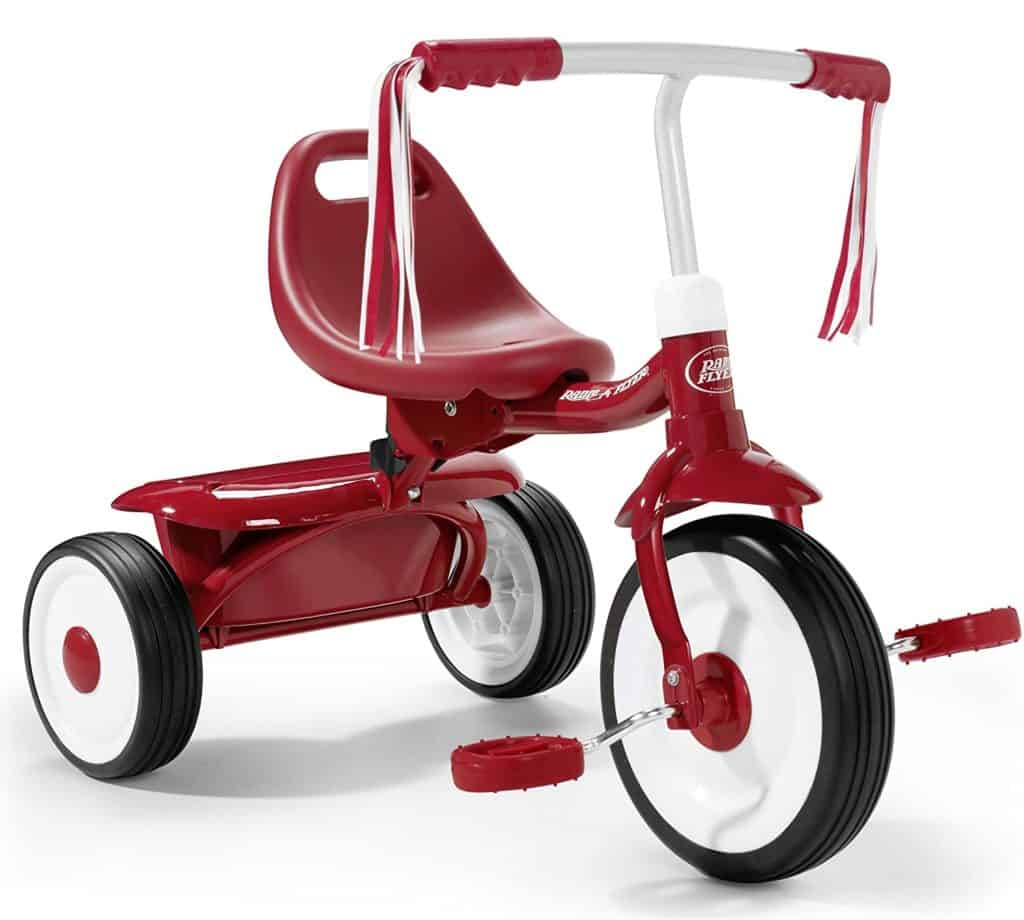 Radio flyer fold to go tricycle