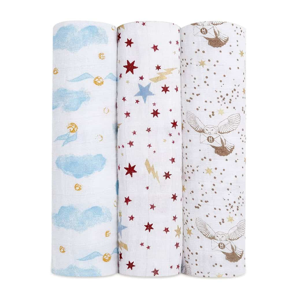 Aden + Anais Harry Potter 3-Pack Swaddles