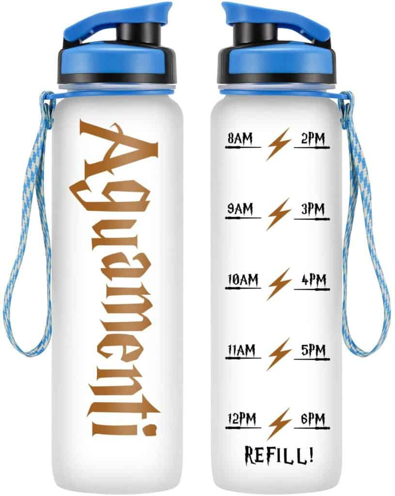 Aguamenti Water Bottle with Time Marker, 32oz