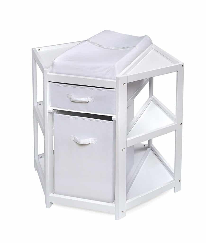 Best Corner Changing Table Badger Basket Diaper Corner Baby Changing Table