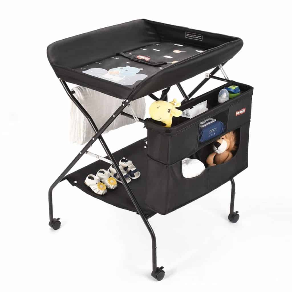 Best Portable Changing Table Forstart Baby Changing Table with Wheels