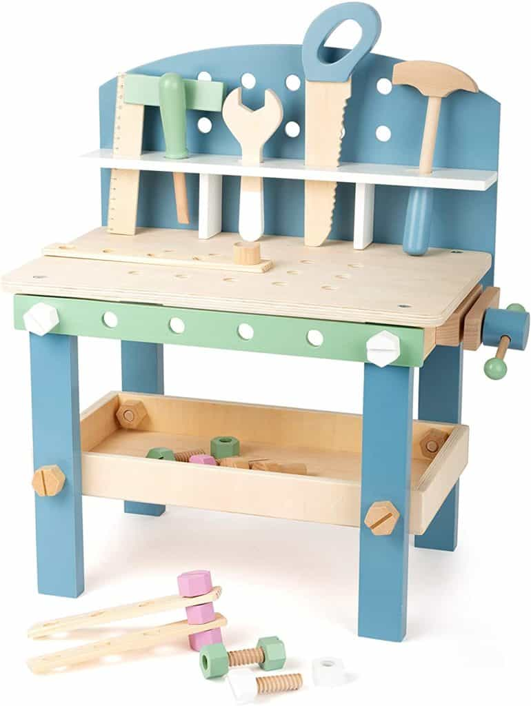 Best Wooden Tinkering Toy Small Foot Wooden Toys Compact Nordic Workbench