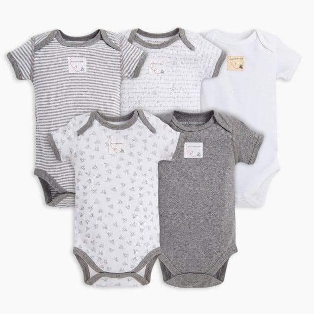 Burt's Bees Baby Organic Short Sleeve Bodysuit (5 Pack)