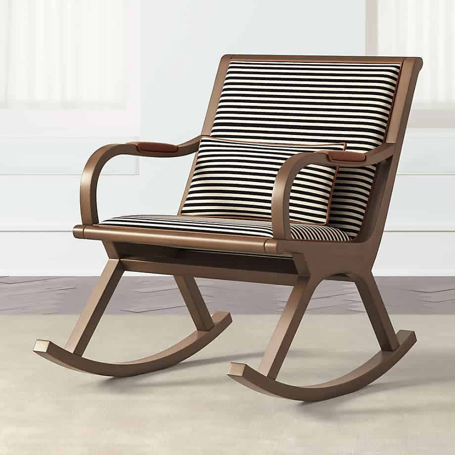 Crate and Barrel Bakersfield Best Nursery Rocking Chair