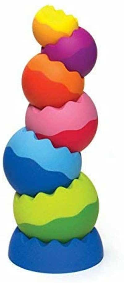 Fat Brain Toys SpinAgain Stacking Toy