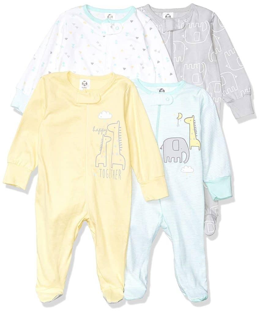 Gerber Baby Girls 4 Piece Pajama Set Parenthoodbliss