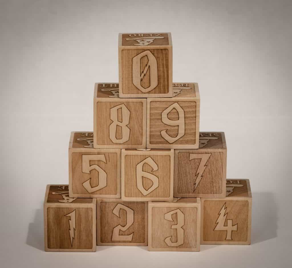 Magical Themed Number Blocks 0 through 9