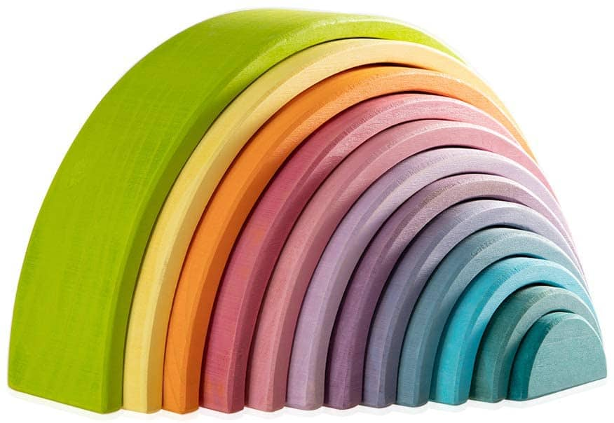 MerryHeart Wooden Rainbow Stacking Toy