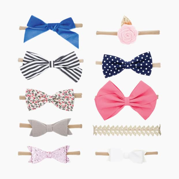 Parker Baby Co. Bows And Headbands (10 Pack)