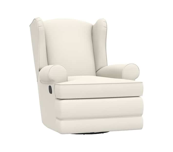 Pottery Barn Wingback Swivel Best Nursery Glider and Recliner