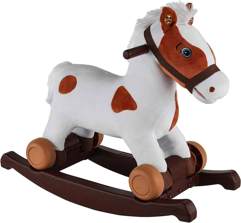 Rockin Rider Carrot 2 in 1 Pony Plush Ride On Parenthoodbliss