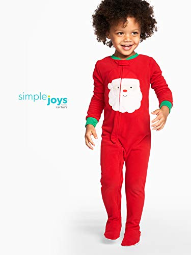 Simple Joys by Carter's Holiday Fleece Footed Pajamas